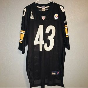 Men's NFL Steelers Super Bowl Polamalu Jersey (XL)